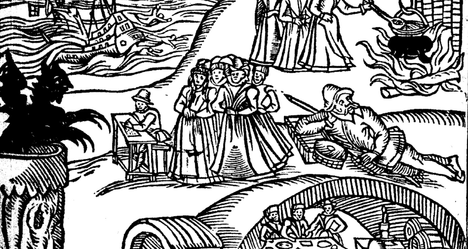 Woodcut from 'Newes from Scotland', 1592, courtesy of Glasgow University Library Special Collections.