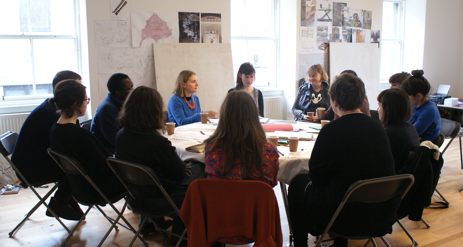 Workshop with Jenny Richards, 'A Labour of Love' workshop, 2015. Photo by Georgia Horgan.
